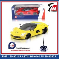 Paypal accepted rc super car 1:16 scale 4 channel plastic battery toy car