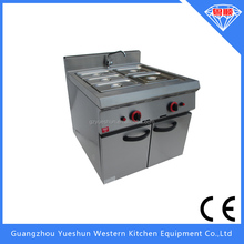 Factory manufacturing high quality commercial gas bain marie with cabinet