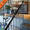 HH-525 aluminum fence board railing and fence gate for side mounted rod railing