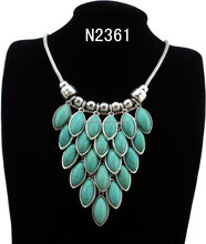 N2361 Charming Beautiful Colorful Stone Pendant Necklace