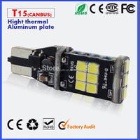 Super Bright 850LM CAR bulb t15 LED 3528/2835 12V 24V auto CAR Decorder lamp 15 SMD bulb