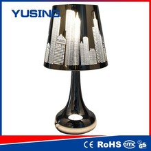 zhejiang hangzhou 100-240v retro style stainless steel touch side table lamp combo