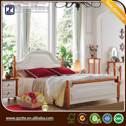 Hot sale solid wood bedroom bed latest double bed designs modern bedroom furniture