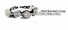 "Hot Selling Letters ""M,O,M"" Beads Shamballa Bracelet 2012"