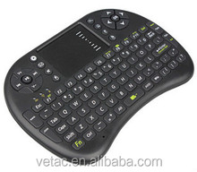 2.4G wireless fly mouse keyboard with touch pad and mouse function