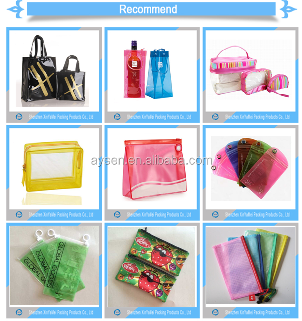 clear pvc plastic snap closure bags