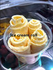 Factory supply Single round pan ice cream roll maker/ frozen yogurt for ice cream shops made in China