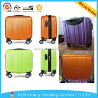 14 inch 8 pure colors laptop case mini trolley case ABS suitcase