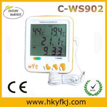In/out termo igrometro con orologio termometro igrometro digitale con il tempo(interruttore C- ws902)