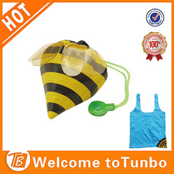 Alibaba china tote bag shop bee shape ripstop polyester eco shopping bag