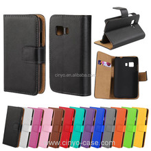 for samsung galaxy young 2 flip case with credit card slot, mobile phone plain pu wallet case for samsung galaxy young 2 g130