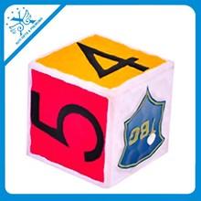foam dice pu ball with logo cube stress toy