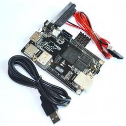 1 Set= 1pcs Raspberry Pi Mini PC Cubieboard 1GB ARM Development Board Cortex-A8 + SATA Cable+ 1pcs Power Supply Wire
