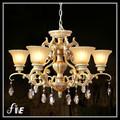 resina de hierro y cristal antiguo de iluminación colgante