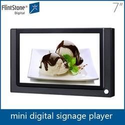 Flintstone 7 inch body sensor advertising led display low cost mini lcd tv video player