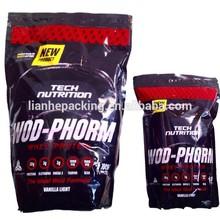 bolsas de comida de proteína de suero de empaque de fábrica directamente