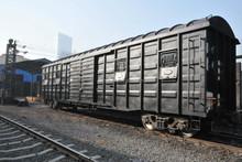 Railway box wagon
