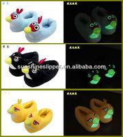 glowing animal indoor slippers ,kids night light slipper