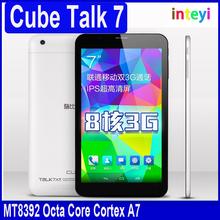 Original Cube Talk7x U51GT-C8 7 Inch Tablet PC Android 4.4 With 3G MTK8392 Octa Core 1024x600 IPS 1GB RAM DDR3 8GB ROM NAND 2MP