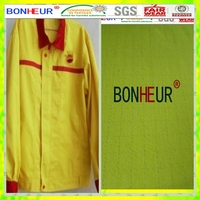fluorescent yellow antistatic uniform fabric for gas station