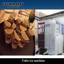 1T, 2T, 3T, 5T High Quality Commercial square Cube Ice Maker for Drink and Wine