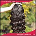 Calansh el cabello 100g por paquete hecho a máquina tramas del pelo de extensión, color # 1b cuerpo de onda del pelo extensiones