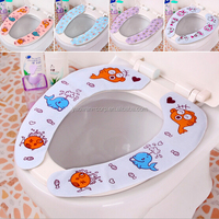 with traceless adhesive layer cloth toilet seat cover