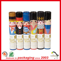 Mini pencil box paper pen container eco friendly cardboard cylinder shape pen case