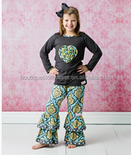 latest children frocks designs outfits boutique clothing cotton newstyle outfits export baby clothes sets