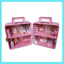 ABS musical plastic doll houses