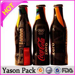 Yason pet shrink labels for bottle packagpackaging label matte black shrink label shrink sleeves manufacture