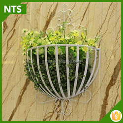 NTS Custom Garden Decoration White Half Round Iron Pot