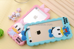 Soft Silicone Rubber Duck Frame Cover Case For iPhone 4 4S 5 5S 6