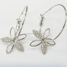 Fashion 925 sterling silver hoop earrings ,fancy earrings for party girls #21527