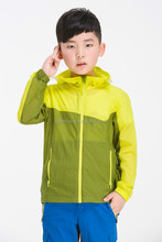 Outdoors children's Summer Quick drying ultra-thin breathable anti-uv sun protection clothing boys/girls skin coats1535-M