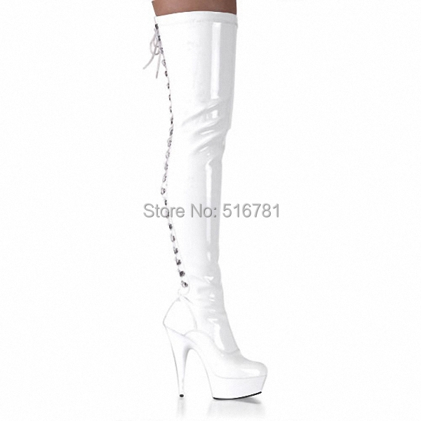 Sexy Thigh High Boots 6 Inch High Heels Fashion Platform Womens Over