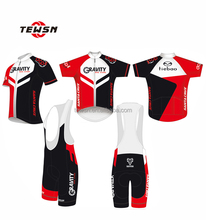 bike store cycling jersey and bib shorts with 3D padding dry-fit cycling wear