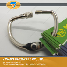 Factory supply nickel plated metal screw lock ring for swatches