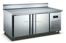 Working table with evaporate tube hiding chiller & freezer (Backed) 300L