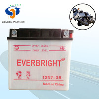 Dry charged motorcycle use lead acid battery 10v and 12v