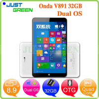 Onda dual os 8.9 inch In-tel Z3735F quad cores Wins 10 pc1280x800 2GB 32GB android 4.4 china tablet pc manufacturer