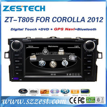car dvd for Toyota corolla 2012 car dvd with gps 2 din car multimedia navigation system ZT-T805