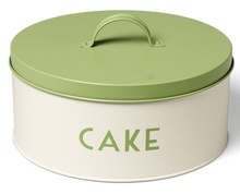 S465MS Cake Canister Box/Removable Lid/Handle Round/Powder Coat Green Cake Storage Canister_Top Utensils manufacturer