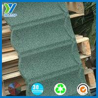 Corrugated sheet metal roofing/Stone granule coated steel roof tile