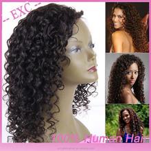 Hot popular! grade 5a cheap raw unprocessed russian human afro curl wig