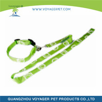 Top quality leash customized nylon LED dog leash with collar manufacturing