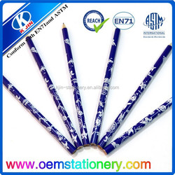 7inch HB round natural wood pencils in silk screen printing