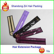 hair virgin brazilian hair extension/High quality laminated pp woven bag for hair packing