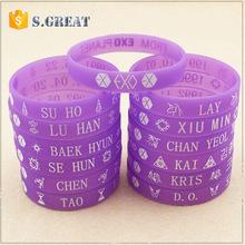 Glow In The Dark silicon glow bracelet custom Motion activated Slap flashing Led bracelet