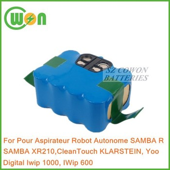 battery for pour aspirateur robot autonome samba r samba xr210 cleantouch klarstein buy. Black Bedroom Furniture Sets. Home Design Ideas